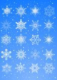 cristaux neige bleu