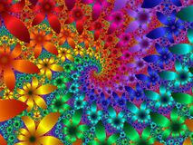fractales fleurs multicolores