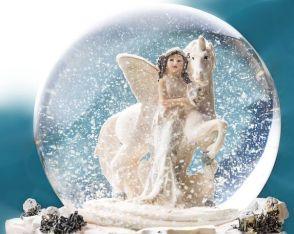 licorne boule de neige